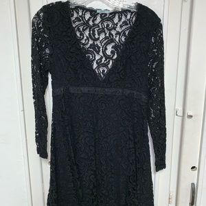 black long sleeve lace dress !!